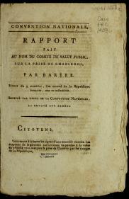 Cover of: Rapport fait au nom du Comite  de salut public, sur la prise de Charleroi | B. Bare  re